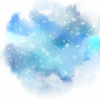 flocons de neige sur fond aquarelle