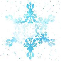 Flocon de neige aquarelle