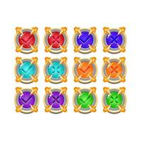 ensemble de pierre rock médiévale jeu de gelée bouton ui oui et non coches pour les éléments d'actif gui illustration vectorielle vecteur