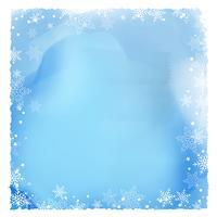 Bordure de flocon de neige sur une texture aquarelle vecteur