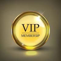 bouton vip web or vecteur