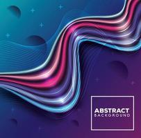 abstrait avec des vagues colorées vecteur