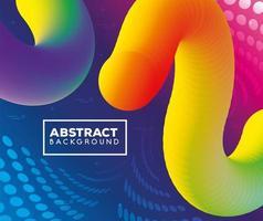 abstrait avec des vagues colorées vibrantes coulent