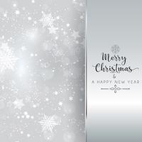 Fond argenté de Noël et du nouvel an