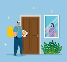 livraison sans contact sûre à domicile pour éviter la propagation du coronavirus