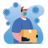 livraison sûre, courrier avec masque facial