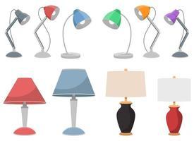 lampe de table vector design illustration set isolé sur fond blanc