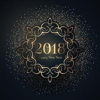 Fond de bonne année avec des confettis vecteur