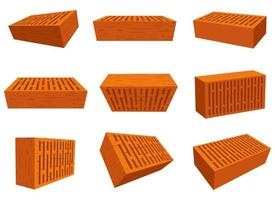 brique pour la construction de mur vector illustration design set isolé sur fond blanc
