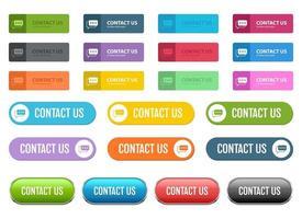 Contactez-nous bouton vector design illustration set isolé sur fond blanc