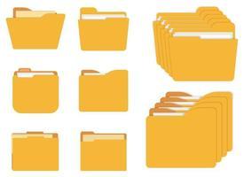 illustration de conception de vecteur icône dossier isolé sur fond blanc
