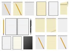 illustration de conception de vecteur de cahier réaliste isolé sur fond blanc