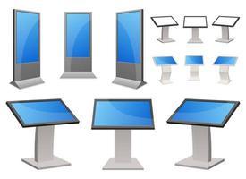 illustration de conception de vecteur de kiosque numérique isolé sur fond blanc