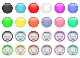 bouton pin vector design illustration set isolé sur fond blanc