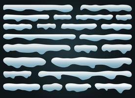 illustration de conception de vecteur de casquettes de neige isolé sur fond