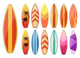 illustration de conception de vecteur de planche de surf isolé sur fond blanc