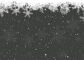 Flocons de neige d'hiver vecteur