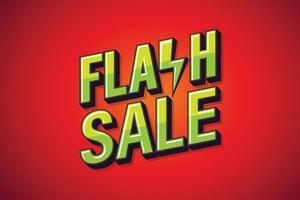 vente flash, affiche de discours. conception d'art de texte. conception de marketing en ligne. illustration vectorielle