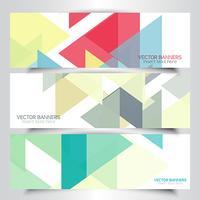 Bannières géométriques abstraites vecteur