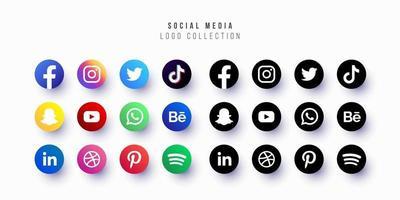 collection de logo de médias sociaux conception de vecteur gratuit editable redimensionnable eps 10