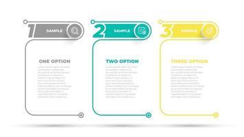 modèle d'options de numéro de conception graphique d'informations commerciales. chronologie avec 4 étapes, options. peut être utilisé pour le diagramme de flux de travail, le graphique d'informations, la conception Web. illustration vectorielle. vecteur