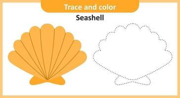 trace et couleur coquillage