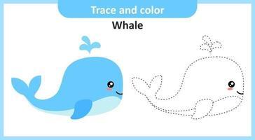 trace et couleur de baleine vecteur