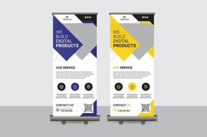 modèle de vecteur de conception abstraite coloré roll up banner