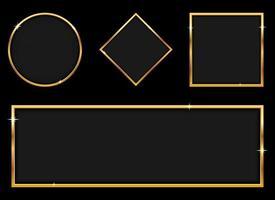 illustration de conception de vecteur de bannière dorée de luxe isolée sur fond