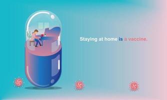 distance sociale et concept de séjour à la maison. quarantaine, les gens gardent leurs distances pour les risques d'infection et les maladies homme jouant du piano, comme dans une capsule. plaisir à la maison. auto-isolation du coronavirus.vector vecteur