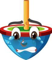 personnage de dessin animé avec une expression faciale vecteur