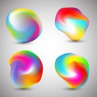 Formes abstraites colorées vecteur