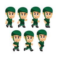 soldat en cours d'exécution jeu de caractères