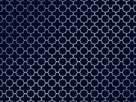 abstrait motif marocain argenté sur fond bleu. vecteur