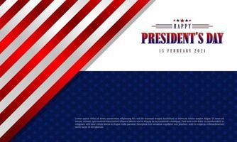 contexte de la journée du président vecteur