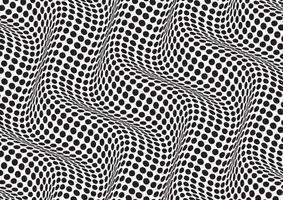 abstrait avec une illusion d'optique noir et blanc vecteur
