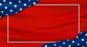 amérique ou usa fond de vacances 4 juillet fête de l'indépendance et autre illustration vectorielle de célébration vecteur