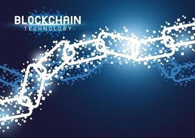illustration vectorielle de technologie blockchain fond