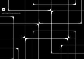 motif abstrait blanc se croisant les lignes géométriques se chevauchant sur fond noir vecteur