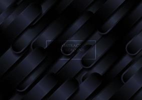 abstrait noir diagonal formes arrondies lignes de fond. vecteur