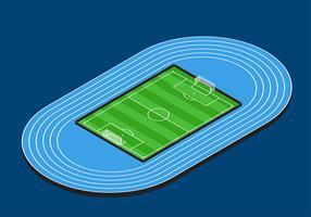 Vecteur d'isométrique de terrain de football