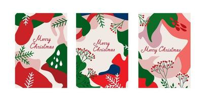 ensemble de conception de fond hiver vacances de Noël. collection abstraite de décoration de modèle de noel.