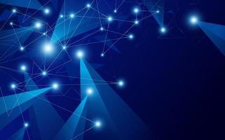 illustration vectorielle de fond abstrait connexion réseau mondial