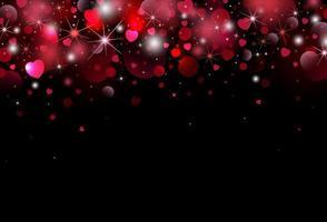 conception de fond Saint Valentin de coeur avec illustration vectorielle lumière bokeh