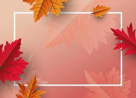 conception de fond de feuilles dautomne avec illustration vectorielle de copie espace