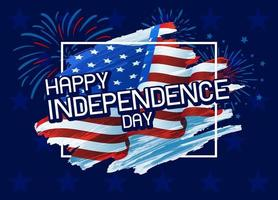 usa 4 juillet joyeux jour de l'indépendance illustration vectorielle