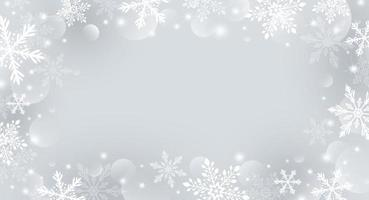 conception de fond de Noël de flocon de neige et bokeh avec illustration vectorielle effet de lumière