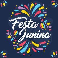 Vecteur de Festa Junina coloré