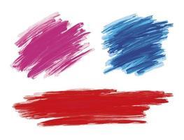 coup de pinceau de peinture sur illustration vectorielle fond blanc