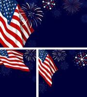 4 juillet usa fête de l'indépendance bannière illustration vectorielle